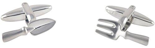 Silber Kelle und Gabel Manschettenknöpfe von David Van Hagen