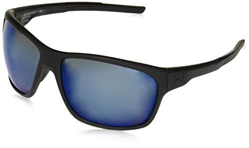 Under Armour Ua No Limits Polarized Square Sunglasses, Black, 58 mm