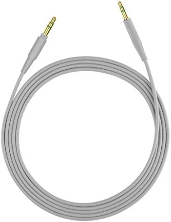 Geekria QuickFit Audio Cable Compatible with Bose QuietComfort 35 II, QuietComfort 25, QC35 II, QC35, QC25, NC700, 700 ANC, NCH700 Headphones Cable, 2.5mm AUX Replacement Stereo Cord (Grey 5.6FT)