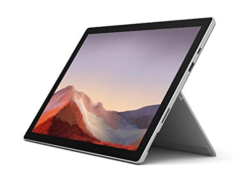 "Microsoft Surface Pro 7 12.3"" Tablet (Platinum) - Intel 10th Gen Quad Core i5, 8GB RAM, 128GB SSD, Windows 10 Home, 2019 Edition"