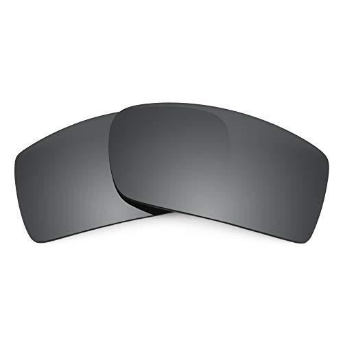Revant Verres de Rechange Compatibles avec Oakley Thump 2, Non Polarisés, Chrome Noir MirrorShield