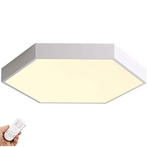 Moderna Planchar Plafon Led,Con Mando A Distáncia Blanco Lampara De Techo,Restaurante Sala Cocina Plafon Decora Luminaria-Blanco sin aurora angustiado 30cm
