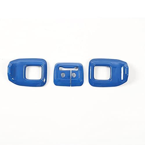 ABS Car Interior Interior Trasero Ajuste DE Ajuste DE LA Cubra DE DECURACIÓN/Ajuste para JE.EP Renegade 2015-2017 Accesorios para automóviles Estilo (Color Name : Blue)