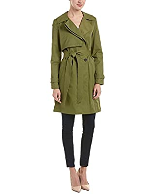 7 For All Mankind Women's Folded Gunflap Trench Coat, Olive, XL from 7 For All Mankind Women's Outerwear