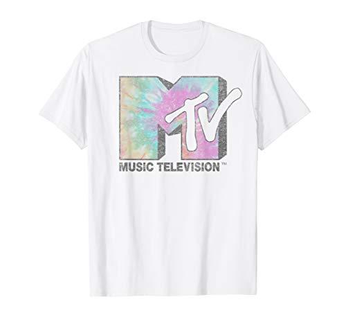 MTV Music Television Faded Tie Dye Logo Fill T-Shirt