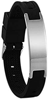 Necklace Necklaces لقلائد قلادة Power Silicone Bracelet Bio Elelents Energy Balance Bracelet Magnetic Wristband Black Silicone گردنبند