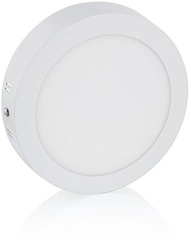 Panneau LED rond ultra fin 12 W – 230 V – 30 mm plat – Aluminium moulé sous pression – 1080 lm – Ø 170 x 30 mm – Blanc froid (6500 K)