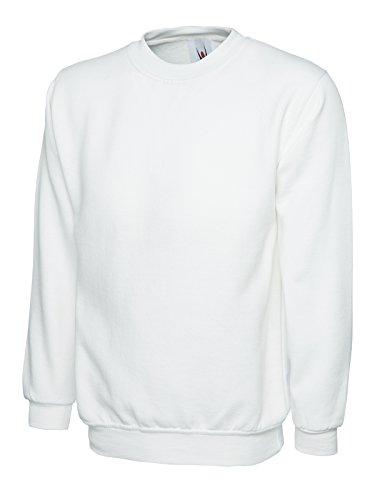 Uneek Sweat 300 g uni classique à col rond - Blanc - XXX-Large