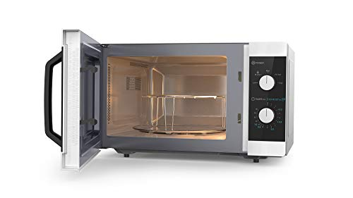 31y HqgNLtL - Sharp YC-MS31U-S 900W Solo Microwave Oven with 23 L Capacity, 5 Power Levels & Defrost Function – Silver