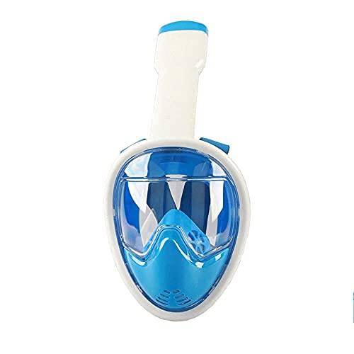 AWJ Máscara de Snorkel de Silicona 180 & deg;Gafas panorámicas antivaho para niños, Equipo Completo de Buceo y natación con esnórquel seco