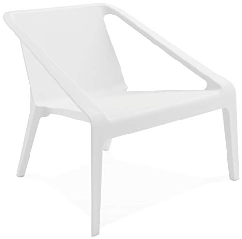 Kokoon design Fauteuil Lounge Blanc intérieur et extérieur SOLEADO