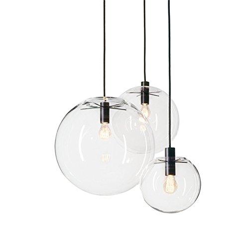 MZStech Sphärische Klassische Glas Pendelleuchte Kreative Einzigen Licht Glas Lampe, Kronleuchter Licht LED Hängelampe (30CM)