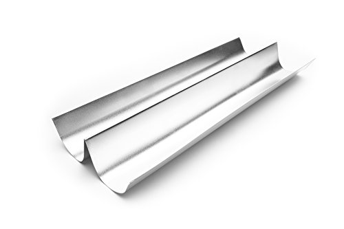 Fox Run 4628 French Baguette Pan, Tin-Plated Steel, 18-Inch