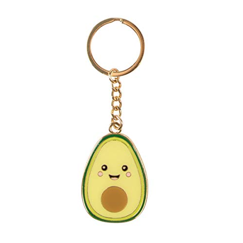 Sass & Belle Happy Avocado Enamel Keyring