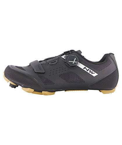Northwave Razer 2021 - Zapatillas de ciclismo (37), color negro y beige