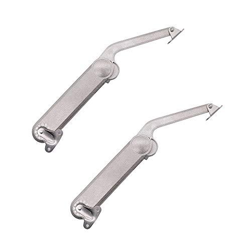 NUZAMAS - Juego de 2 bisagras de soporte para tapa, hasta 40 kg extra resistentes, con tapa plegable para armario, puerta de armario de cocina, juguetes, caja de herramientas