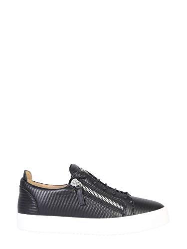 Giuseppe Zanotti Luxury Fashion Design Herren RM90084002 Schwarz Leder Sneakers | Herbst Winter 19