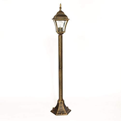 Design élégant en fonte d'aluminium style ancien doré 2/2/873 lampe sur pied