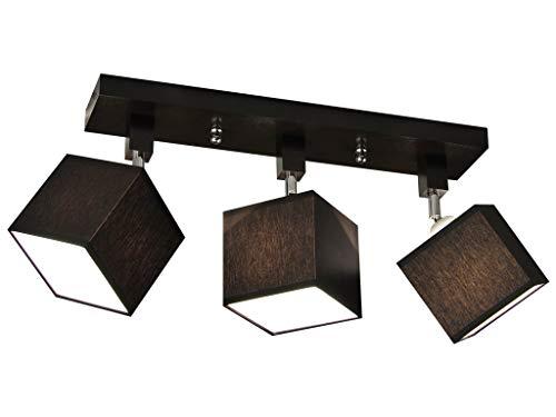 Deckenlampe - HausLeuchten LLS312DPR, Deckenleuchte, Leuchte, Lampe, Kinderzimmer, Wohnzimmer, Schlafzimmer, Küche, 3-flammig, Holz