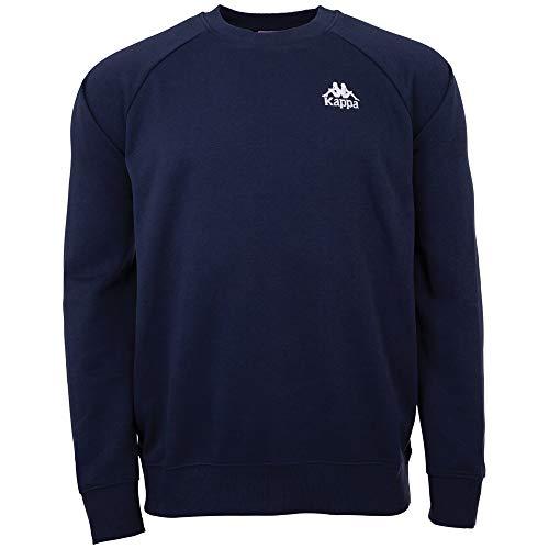 Kappa Authentic Taule Sweat-Shirt à Manches Longues pour Homme - Look rétro - Coupe Droite XL Bleu Marine (821)