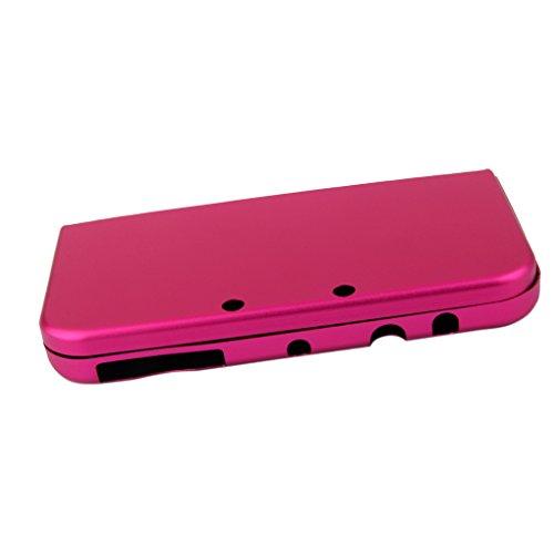 Generic - Skin de aluminio para Nintendo 3DS LL XL, color rosa