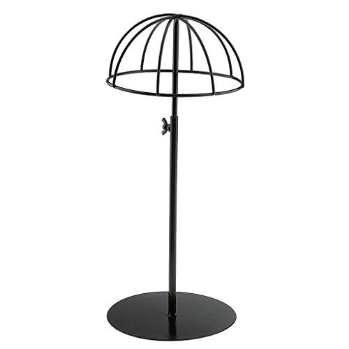 Metall Hutständer Perückenständer Metallständer, Höhe verstellbar - Schwarz