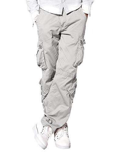 Match Men's Wild Cargo Pants(34,Light Gray)