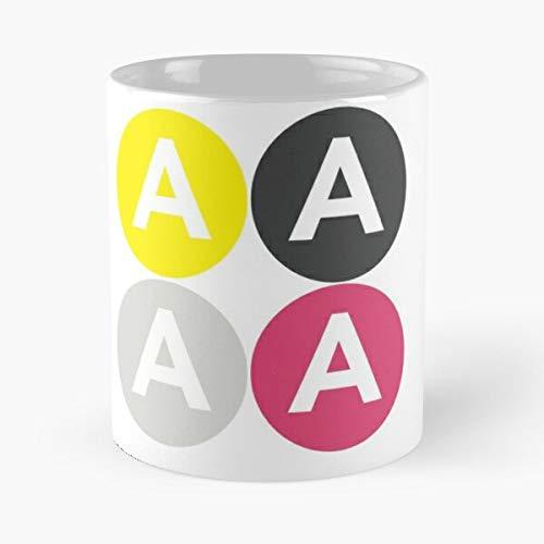 Akerlof Alerlof Quad Die Beste 11 Unzen weiße Marmor Keramik Kaffeetasse
