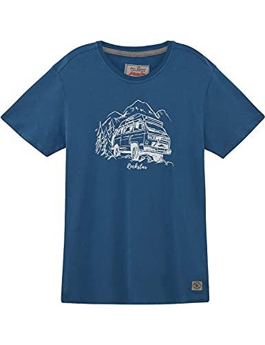 Herren T-Shirt VW Bulli »Rockstar« Blue White Gr.3XL
