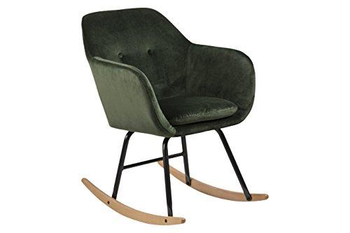 AC Design Furniture Schaukelstuhl Wendy, B: 57 x T:71 x H: 81 cm, Metall, Grün