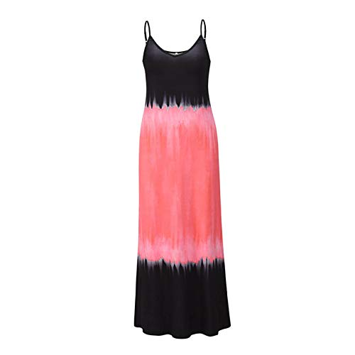 cypressen Chaleco sin mangas, vestido de verano para mujer, con cuello en V, sin mangas, vestido largo