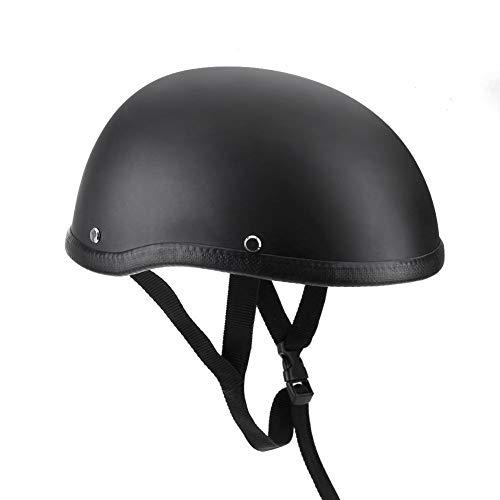 Casco de motocicleta, moto negro mate, casco de media cara