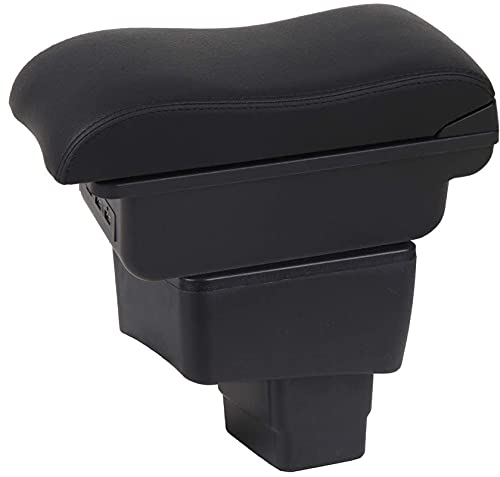 HYCQ Accesorios Coche Reposabezas De Automóviles para Mazda CX3 CX-3 2014-2019 Caja De Almacenamiento Grande. Coche Apoyabrazos Box (Color : Negro Costura)