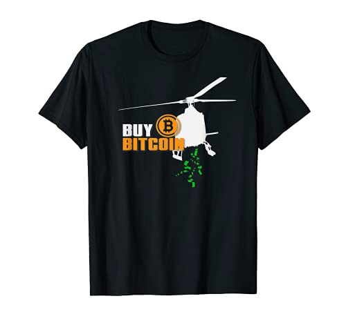 Buy Bitcoin Helikopter Geld BTC Krypto Adoption Design T-Shirt