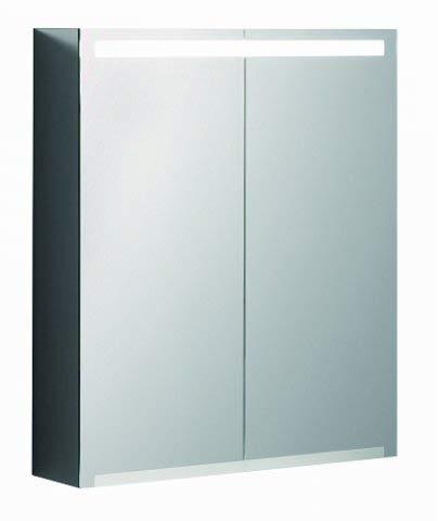 Keramag Geberit Option Spiegelschrank mit Beleuchtung, Zwei Türen, Breite 60 cm, 500582001
