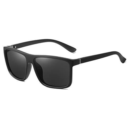 Gafas De Sol para Hombre Y Mujer Moda Polarizadas Gafas ProteccióN para ConduccióN Gafas De Deportes Al Aire Libre De Pesca De Moda Regalo de San Valentín (Color : Black)