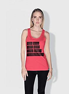 Creo Kiss Funny Tanks Tops For Women - M