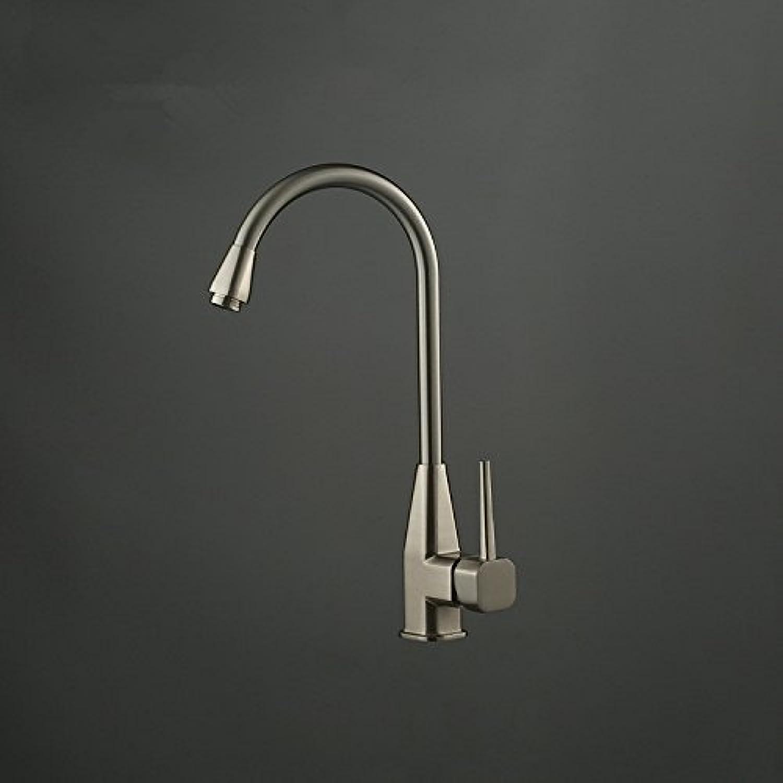 Küchenarmatur, Wasserhahn küche mit herausziehbarer Dual-Spülbrause,Spiralfederhahn Wasserhahn.Kaltes und Heies Wasser Vorhanden Messing verchromt Robinet de cuisine robinet de lavabo rotatif