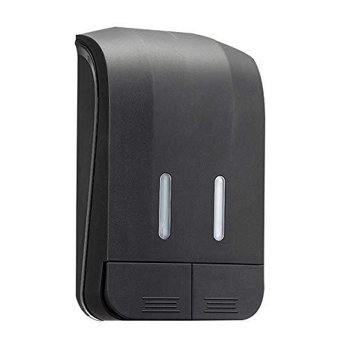 Dispensador de jabón Caja de desinfectante de mano sin punch-Free Head 500ml * 2, dispensador de jabón de mano líquido recargable para baño (blanco, gris y negro) Dispensador de jabón ( Color : Gray )