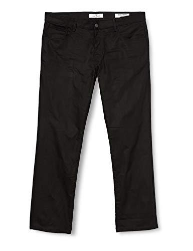 TOM TAILOR Herren Marvin Straight Jeans, Schwarz Clean Raw Black Denim, 38W / 32L