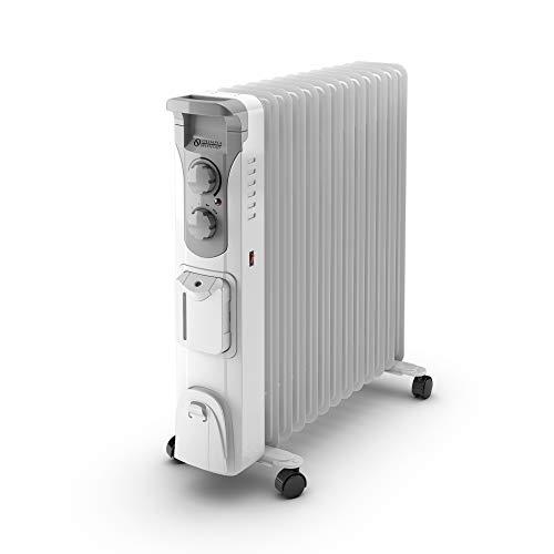 Olimpia Splendid 99298 Caldorad Humi 13 Radiador de Aceite 2500 W con humidificador y Temporizador, Blanco