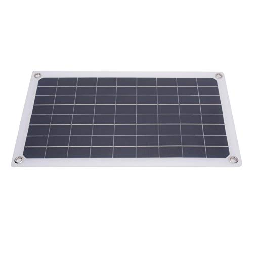 Qqmora Cargador de módulo de Panel de celda Solar Cargador de energía Solar Panel de Cargador Solar de energía USB portátil liviano 20W para Todos los pequeños electrodomésticos para Luces del