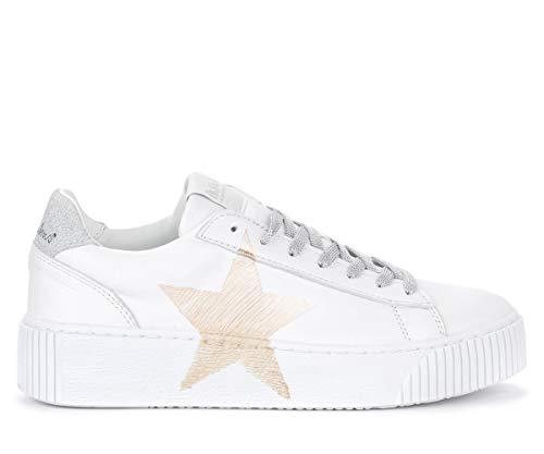 Nira Rubens Sneaker Cosmopolitan In Leder Weiss Mit Goldenem Stern