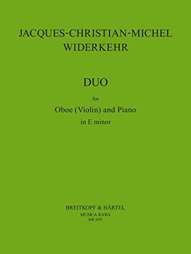 Duo-Sonate e-moll für Oboe (VioIine) und Klavier (MR 1653)