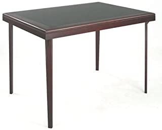 Cosco Rectangular Wood Folding Game Table with Vinyl Inset | 37263DMB1