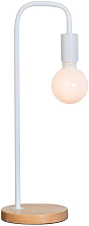 YONGJUN Dekoration Tischlampe, Office Home Beleuchtung LED-Licht-Licht Schreibtisch Lampen Industrial Task Lampe, Eisen Retro Kreative Persnlichkeit Nachttischlampe (Farbe   Wei)