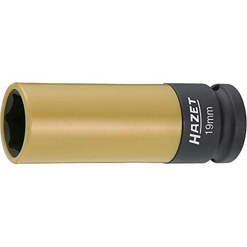 HAZET Steckschlüsseleinsatz (1/2 Zoll (12,5 mm) Vierkantantrieb, mit Kunststoffhülse zum Schutz von Felgen, Schlüsselweite: 19 mm) 903SLG-19