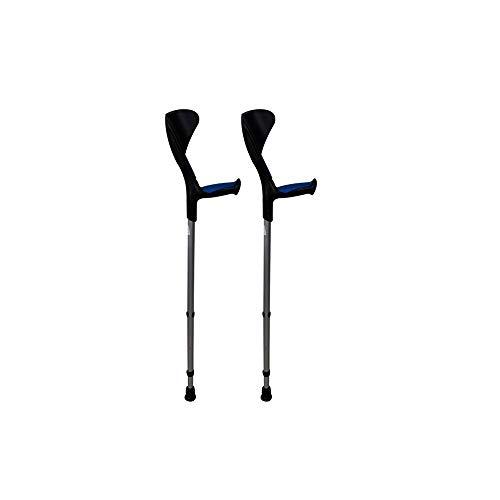 Muletas Advance 2 uds azules, Con puño anatómico de goma