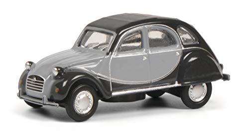 Schuco Citroën 2CV Charleston, Modellauto, Maßstab 1:87, hellgrau/dunkelgraues Charleston Design, 452651400