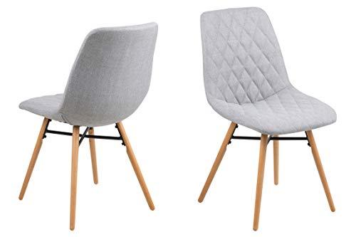 AC Design Furniture Lif 67352 Chaise de Salle à Manger Noir L/B/H env. 46/57/85 cm